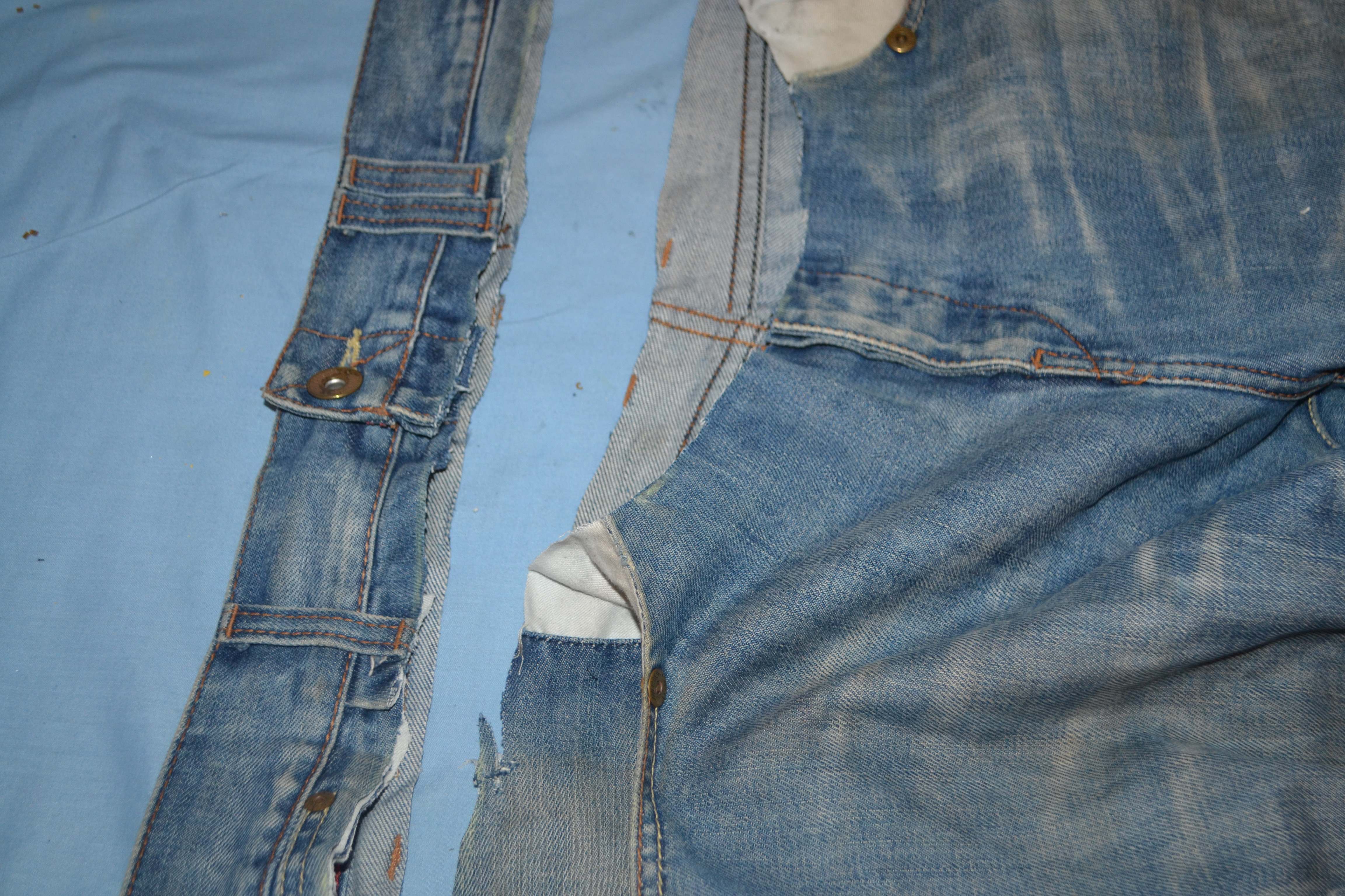 Up-Cycle Old Jeans to Cropped Denim Jacket | chinelo bally